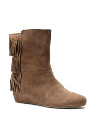 Isola Tricia Suede Wedge Boots Brown