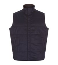 Peter Millar Greenwich Wool And Cashmere Gilet Male Navy