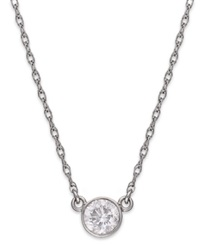 Macy's Diamond Round Pendant Necklace In 14K White Gold 1 3 Ct. T.W.