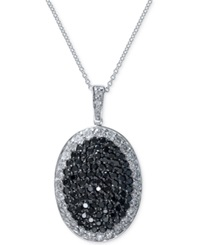 Effy Collection Effy Black And White Diamond Pendant Necklace 1 5 8 Ct. T.W. In 14K White Gold