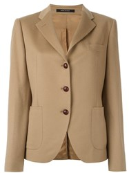 Tagliatore Patch Pocket Blazer Brown