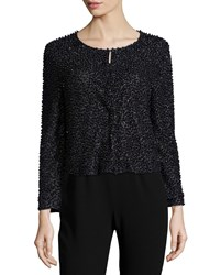 Haute Hippie Beaded 3 4 Sleeve Cardigan Black Size X Small