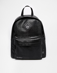 Rock And Religion Backpack In Croc Effect Black