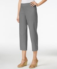Jm Collection Pull On Cropped Pants Only At Macy's Shy Grey
