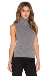 Enza Costa Turtleneck Vest Gray