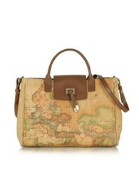 Alviero Martini Medium Golden Tie Handbag Brown