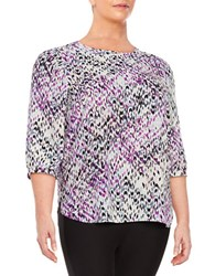 Nydj Plus Patterned Tunic Top Dream On Chevron