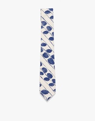 The Hill Side Endo Leaves' Print Tie Multi