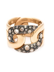 Pomellato Diamond Pave Chain Ring Brown