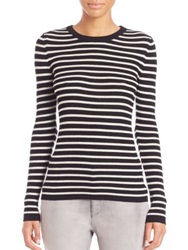 Set Striped Knit Pullover Dark Blue Red Black White