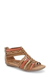 Women's Earth 'Bay' Leather Sandal Brown Multi Leather