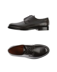Trussardi Footwear Lace Up Shoes Men Black