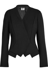 Topshop Unique Farley Stretch Wool Blazer Black