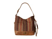 American West Serape Shoulder Bag Medium Brown Autumn Leaves Shoulder Handbags