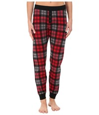 Ugg Whitney Pants Scarlett Plaid Women's Casual Pants Red