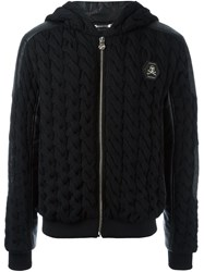 Philipp Plein 'We Are Black' Cable Knit Hoodie
