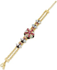 Kate Spade New York Gold Tone And Multi Color Crystal Stone Bracelet