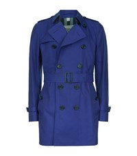 Burberry London The Kensington Mid Length Heritage Trench Coat Male Midnight