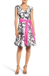 Eliza J Women's Print Fit And Flare Dress