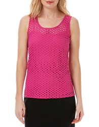 Laundry By Shelli Segal Perforated Tank Top Rose Violet