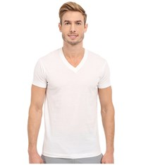 2Xist Pima Cotton Short Sleeve V Neck White Men's T Shirt