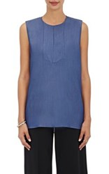Tomorrowland Women's Polished Twill Sleeveless Top Navy