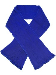 Issey Miyake Pleated Scarf Blue