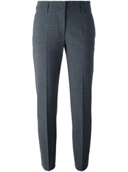 Piazza Sempione Slim Fit Tailored Trousers Grey
