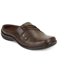 Easy Street Shoes Easy Street Holly Comfort Clogs Women's Shoes Brown