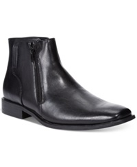 Unlisted Back Seat Two Zip Boots Men's Shoes Black