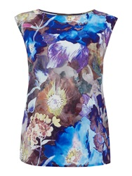 Pied A Terre Lulu Printed Shell Top Multi Coloured