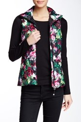 Betsey Johnson Ribbon Trim Puffer Vest Multi