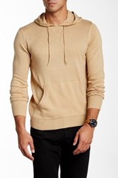Yoki Long Sleeve Hooded Sweater Beige