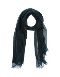 Destin Accessories Oblong Scarves Men Dark Green