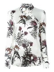 Ann Demeulemeester Floral Print Blouse White