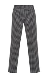 Tibi Gingham Straight Legged Pants Black
