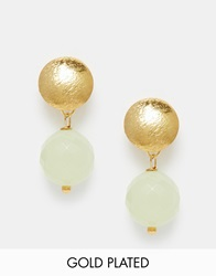 Mirabelle Gold Plated Serpentine Stud Earrings