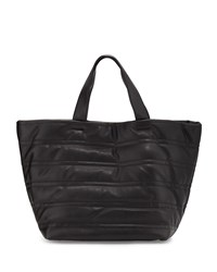 Neiman Marcus Quilted Large Tote Bag Black