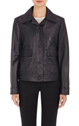 Helmut Lang Women's Leather Jacket Navy