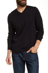 Wallin And Bros Cotton Cashmere V Neck Sweater Black