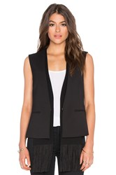 Bcbgmaxazria Jared Sleeveless Blazer Black