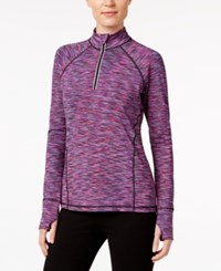Ideology Quarter Zip Ombre Top Only At Macy's Holiday Multi