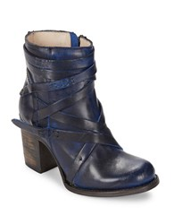Freebird Round Toe Ankle Boots Navy Blue