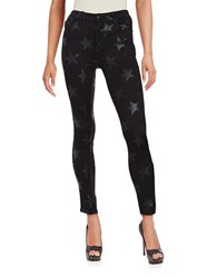 Design Lab Lord And Taylor Star Print Skinny Jeans Black