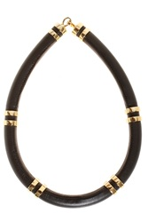 Lizzie Fortunato Leather Tube Necklace