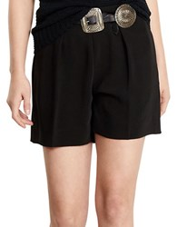 Polo Ralph Lauren Pleated Twill High Rise Shorts Black