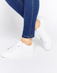 Fred Perry White Spencer Leather Trainers White
