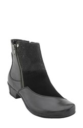 Earthr Women's Earth 'Orion' Patchwork Bootie Black Leather