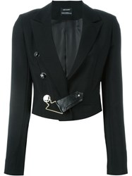 Anthony Vaccarello Cropped Blazer Black