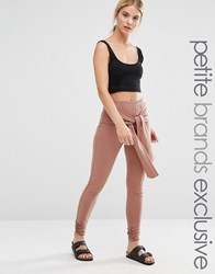 One Day Petite Legging With Wrap Front Detail Tan